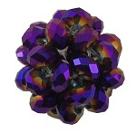 22mm Purple Plated Faceted - SORRY SOLD OUT
