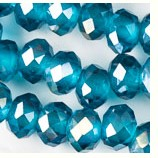 10mm x 8mm  Ice Blue Crystals - (1 Strand) - SORRY OUT OF STOCK