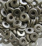 8mm Silver Flat Round Spacers - (20 Beads)
