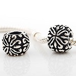 11mm Abstract Flower - (3 Beads)