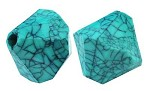 16mm Turquoise Marble Diamonds - SORRY SOLD OUT