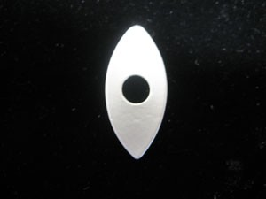"1-1/4"" Silver Oval Disk"