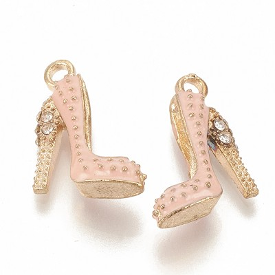 Pink & Gold Stiletto Charms - (3 Charms)