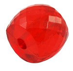 10mm Acrylic Faceted Red Drum - (10 Beads)