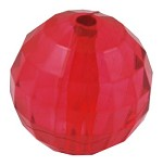 24mm Transparent Faceted Red - SORRY SOLD OUT
