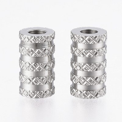 11mm Silver Metal Tubes- (5 Beads)