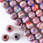 12mm Synthetic Rainbow Rounds - (1 Strand)
