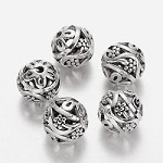 11mm Silver Vines - (5 Beads)