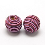 14mm Polymer Clay Dusty Rose  - (3 Beads)