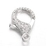 Large 31mm Silver Crystal Clasp - (1 Clasp)