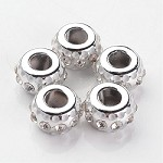 16mm White Crystal Rondell - (3 Beads)