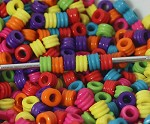 5mm Acrylic Mini Barrels - (20 Beads)