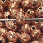 15mm Copper Metalized Plastic Beads - (5 Beads)