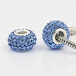 12mm Blue Crystal - (3 Beads)