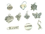 Small Silver-Plated  Charms (10 Charms)