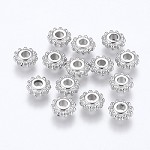 8mm silver-Plated Rondell Spacers - (10 Beads)