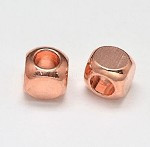 5mm Rose Gold Spacer- (5 Beads)