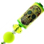 Lime Green  Sugar Skull