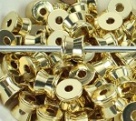 9mm x 7mm Bright Gold Spaceship - (3 Beads)