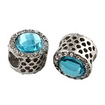 12mm Turquoise Crystal  - (2 Beads)