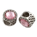 12mm Light Pink Crystal  - (2 Beads)