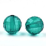 24mm Teal Acrylic Rounds - (5 Beads)