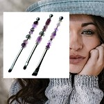 Amethyst Make-Up Brush Trio