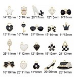 Mixed Black & White Charms - (20 Charms)