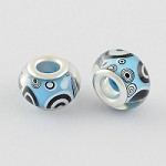 14mm Blue Bubble Acrylic Rondelle (5 Beads)