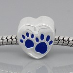 Blue Paws - (3 Beads)