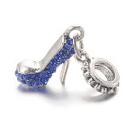 Blue Crystal Stiletto  - (3 Charms)
