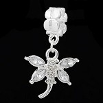 White Crystal Dragonfly - (3 Beads)