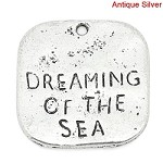 19mm Dreaming of the Sea - (5 Charms)