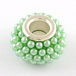 14mm Green Bumpies - (5 Beads)
