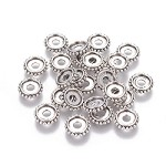 10mm  Antique Silver Rondelle - (10 Beads)