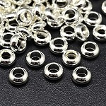 7mm silver-Plated Rondell Spacers - (20 Beads)