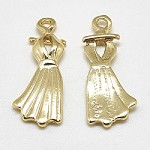 22mm Gold Marilyn Monroe Dress Charm - (3 Charms)