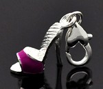 Pink High Heel Charm   - (3 Charms)