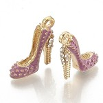 Purple & Gold Stiletto Charms - (5 Charms)