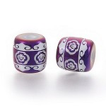 Purple Scrolls - (5 Beads)