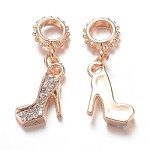 Gold Crystal Stiletto  - (3 Charms)