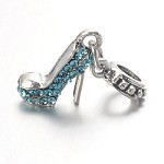 Turquoise Crystal Stiletto  - (3 Charms)