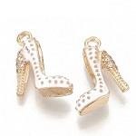 White & Gold Stiletto Charms - (5 Charms)