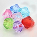 15mm Acrylic Diamond Shaped Beads - (7 Beads)   - SORRY OUT OF STOCK