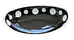 50% Off Black Oval Polka Dot Bowl