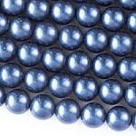 12mm Shimmery Blueberry Pearls - (1 Strand)