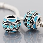 Turquoise Crystal Ball - (3 Beads)  - SORRY OUT OF STOCK