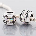 White Crystal Ball - (3 Beads)