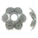 13mm Silver-Plated Flowery Bead Cap - (2 Pieces)