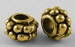 6.5mm Antique Gold Spacers - (10 Beads)